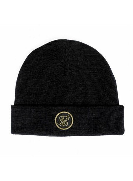 SikSilk Black Fisherman Beanie
