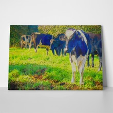 Original oil painting dairy cows 58775761 a