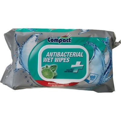 ULTRA COMPACT ANTIBACTERIAL WET WIPES 100PCS