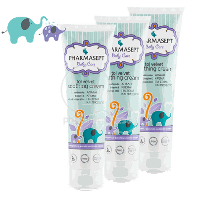 PHARMASEPT - PROMO PACK 3 ΤΕΜΑΧΙΑ BABY CARE TOL VELVET Soothing Cream - 150ml
