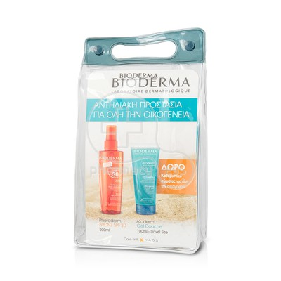 BIODERMA - PROMO PACK PHOTODERM BRONZ Huile Seche SPF30 - 200ml ΜΕ ΔΩΡΟ ATODERM Gel Douche - 100ml