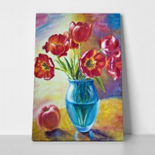 Still life tulips in vase a