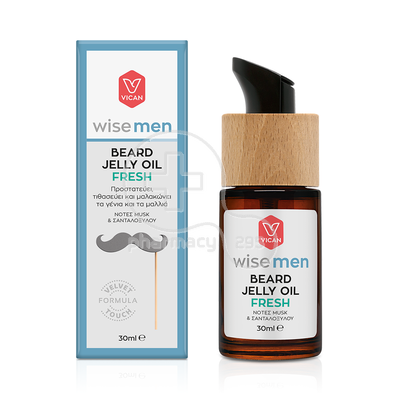 VICAN - WISE MEN Beard Jelly Oil Fresh - 30ml