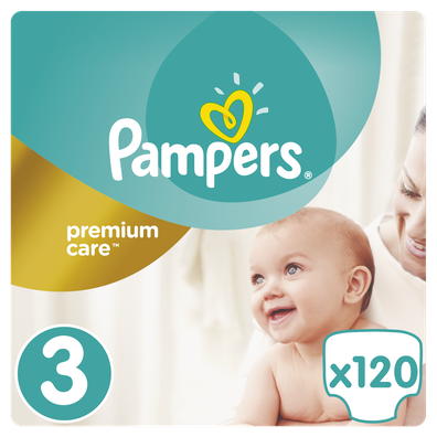 Pampers no3 premium care 120s