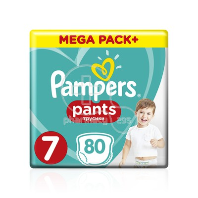 PAMPERS - MEGA PACK+ Pants No7 (17+kg) - 80 πάνες