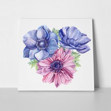Bouquet anemones watercolor 672779920 a