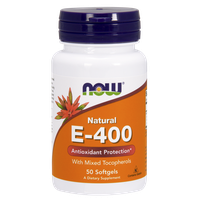 NOW E-400 IU WITH MIXED TOCOPHEROLS 50 SOFTGELS