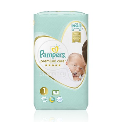 PAMPERS - PREMIUM CARE New Baby No1 (2-5kg) - 52 πάνες