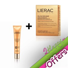 Lierac Sunissime Capsules Bronzage Κάψουλες Μαυρίσματος 30 Κάψουλες & Sunissime BB Fluide Protecteur Anti-Age Global Dore Αντηλιακή Κρέμα SPF30 40ml.