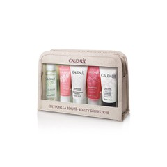 Caudalie Beauty Grows Here Micellar Cleansing Water 30ml & Vinosource Moisturizing Sorbet 10ml & Gentle Conditioning Shampoo 30ml & Rose de Vigne Shower Gel 30ml & Nourishing Body Lotion 30ml