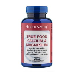 Higher Nature True Food Calcium & Magnesium 120tabs