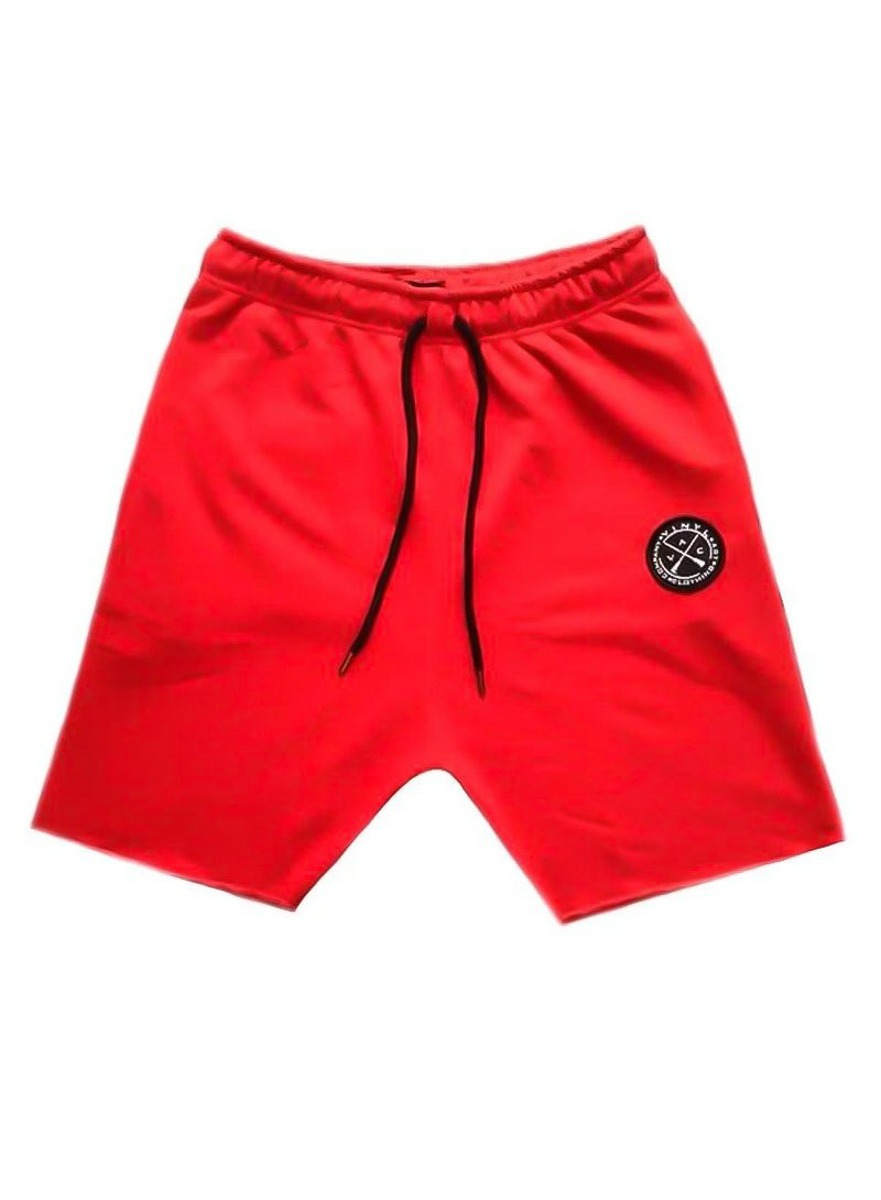 VINYL ART CLOTHING RED JOGGER SHORTS