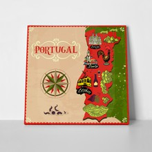 Illustrated map portugal travel attractions 1031657287 a