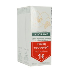 Klorane - Soothing Hair Removal Cream with Sweet Almond, 2x75ml