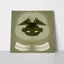 Funny cartoon sloth closeup 250645105 a