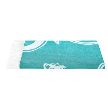 Beach Towel in Aqua Colour