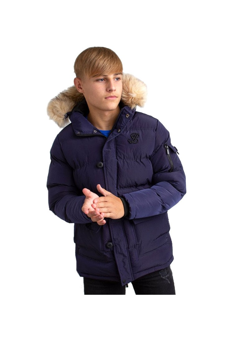 Illusive London Puff Parka – Navy