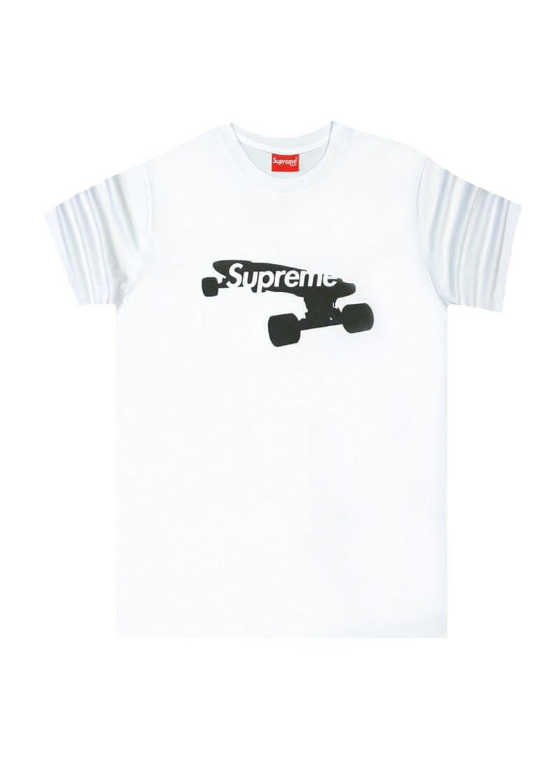 Supreme White T-shirt Skate Stamp