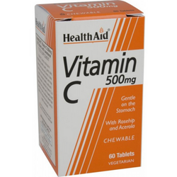 Health Aid VITAMIN C 500mg 60 Chewable tabs