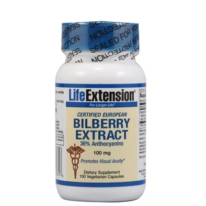 Life extension certified european bilberry extract 100caps enlarge
