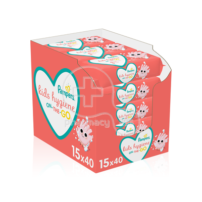 PAMPERS - PROMO PACK 15 ΤΕΜΑΧΙΑ KIDS HYGIENE On-The-Go Baby Wipes - 40τεμ.