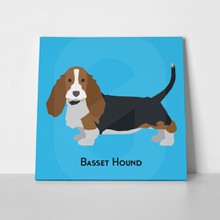 Basset hound dog on blue 436308691 01 a