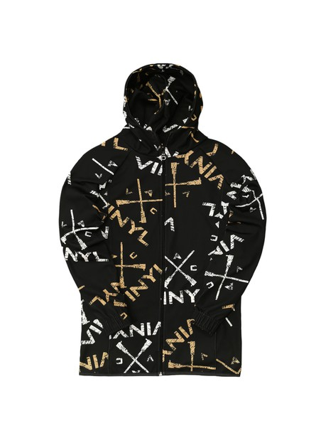 VINYL ART CLOTHING BLACK VINYL JACKET WITH ALLOVER PRINT