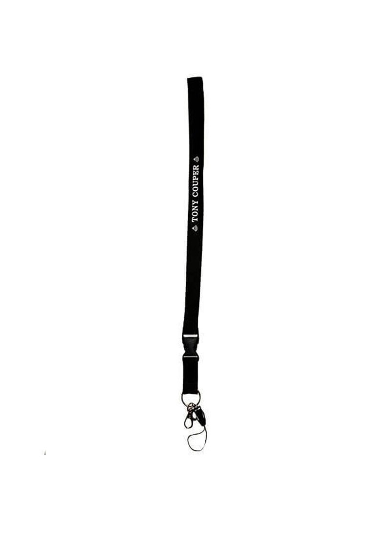 TONY COUPER LANYARD KEYRING BLACK