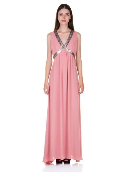 Maxi φόρεμα με λεοπάρ λεπτομέρειες a651d3c8848