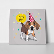Puppy beagle party hat 645907624 a