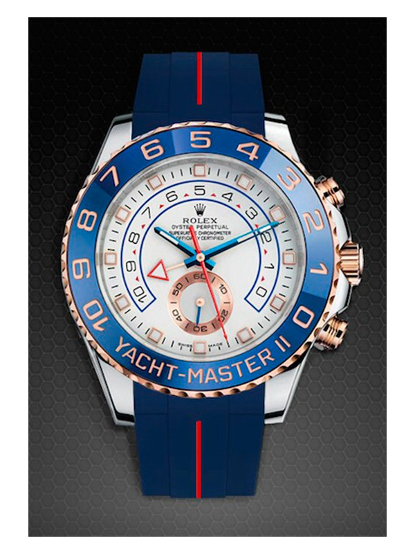 Rubber B For Rolex Yachtmaster II Steel-Gold