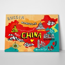 Illustrated map china 318144104 a
