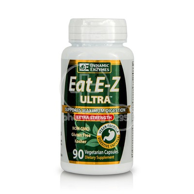 DYNAMIC ENZYMES - Eat E-Z Ultra Extra Strenght - 90caps