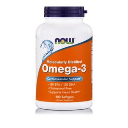 Now Foods Omega-3 180 EPA / 120 DHA 1000mg 100 Softgels