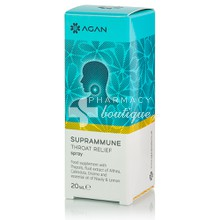 Agan Suprammune Throat Relief Spray - Πονόλαιμος, Βραχνάδα, 20ml