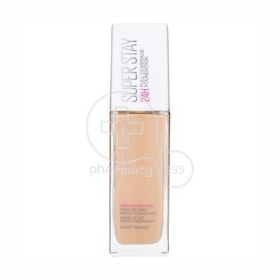 MAYBELLINE - SUPERSTAY Full Coverage Foundation No34 (Soft Bronze) - 30ml