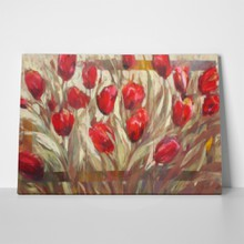 Red tulips field handmade painting 402859885 a