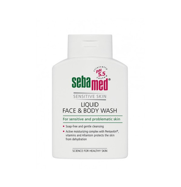 SEBAMED LIQUID FACE-BODY WASH 200ML