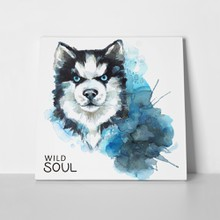 Watercolor husky head 605660747 a
