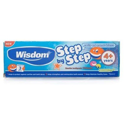Wisdom - Step By Step Toothpaste 4+years - 75ml