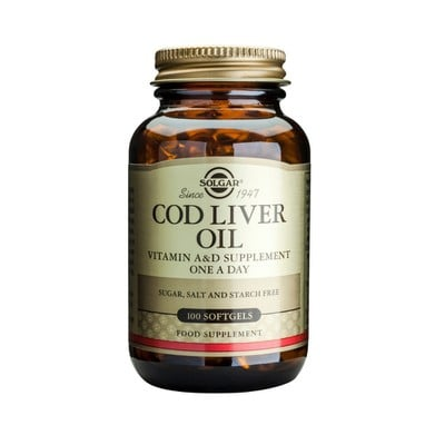 Solgar - Cod Liver Oil - 100softgels