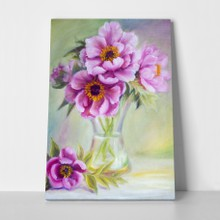 Peonies flowers in vase a