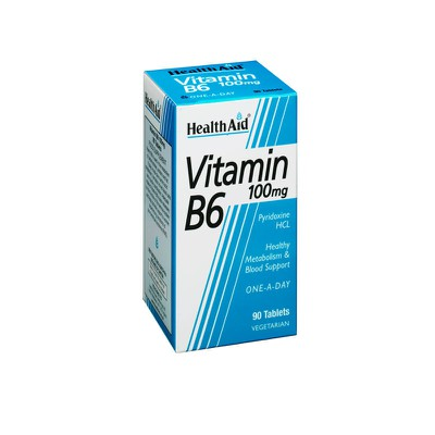 Health Aid - Vitamin B6 100mg - 90tabs