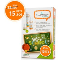 Pharmasept Back to School Πακέτο X-Lice Cologne 100ml + Extra Mild Deo Roll-On 50ml + Soft Hair Shampoo 300ml