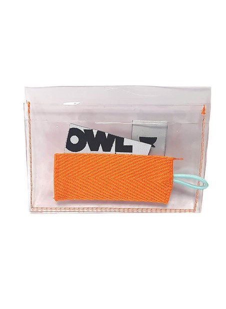 OWL CLOTHES CARD HOLDER ORANGE DETAILS