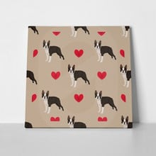 Dog boston terrier heart pattern 517663930 a
