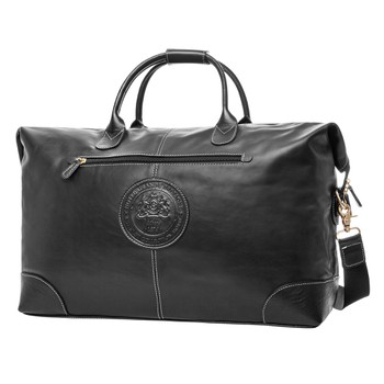 Black Leather Sac Voyage