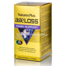 Natures Plus Ageloss Kidney Support - Νεφρά, 90 tabs