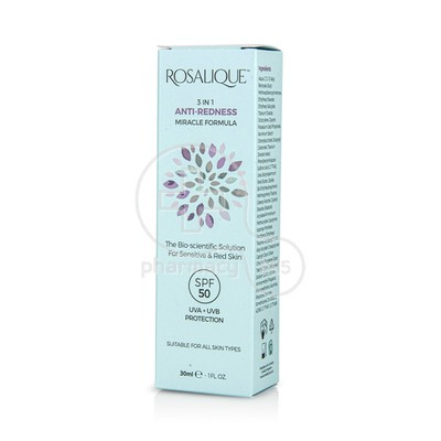ROSALIQUE - 3in1 Anti Redness Miracle Formula SPF50 - 30ml