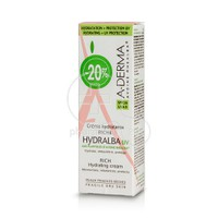 A-DERMA - HYDRALBA CREME RICHE UV 40ml